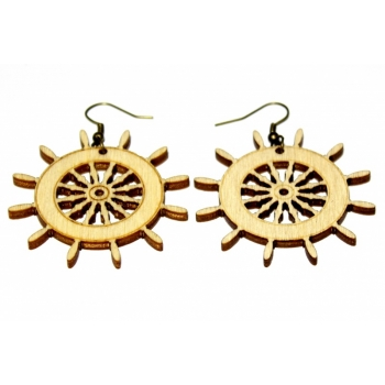 "Earrings ""Ship steering wheel"" KÕ17"