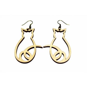 """Earrings """"Cat from behind"""" KÕ22"""