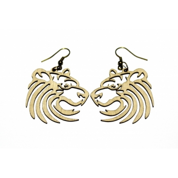 "Earrings ""Lion"" KÕ55 Thin"