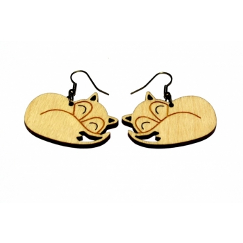 "Earrings ""Sleeping fox"" KÕ57"