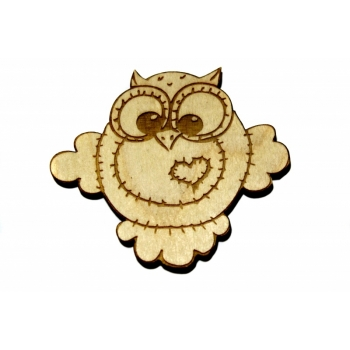 """Magnet """"Owl with a Heart"""" MA52"""