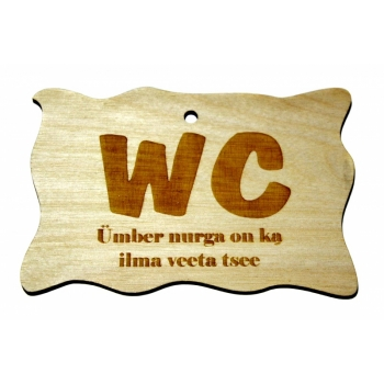 "Plywood sign ""WC Ümber nurga..."" Small VS27"
