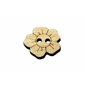 Button ''Flower engraved'' N07
