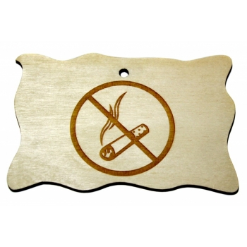 "Plywood sign ""No smoking"" Small VS40"