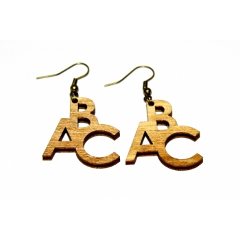 "Earrings ""ABC"" Ebonized"