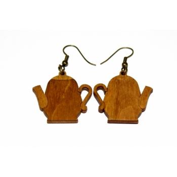 "Earrings ""Teapot"" KÕ05 Ebonized"