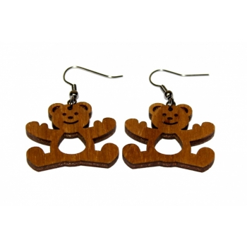 "Earrings ""Teddy bear"" KÕ26 Ebonized"