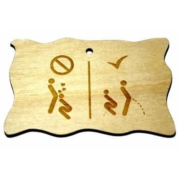 """Plywood sign """"Keelatud/Lubatud"""" Small VS32"""