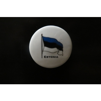 Magnet round Estonian flag