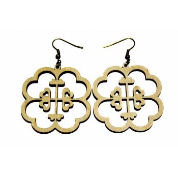 """Earrings """"Flower with hearts"""" KÕ63"""