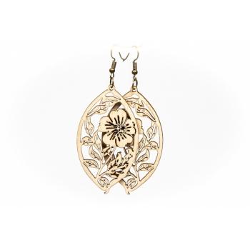 "Earrings ""Spring Flower"" KÕ69 Thin"