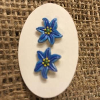 Earrings Blue lily