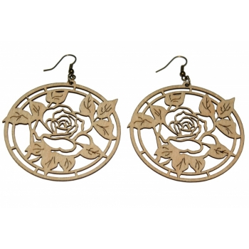 "Earrings ""Rose in a circle"" KÕ76 Thin"