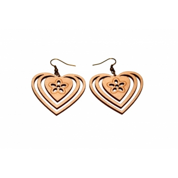 """Earrings """"Heart with flower"""" KÕ80"""
