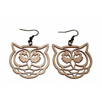 "Earrings ""Owl"" KÕ88 Thin"