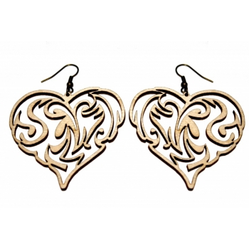 "Earrings ""Heart with ornament"" KÕ96"
