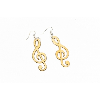 """Earrings """"Clef"""" KÕ25 Small and Thin"""
