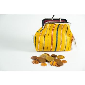 Coin bag large Muhu yellow