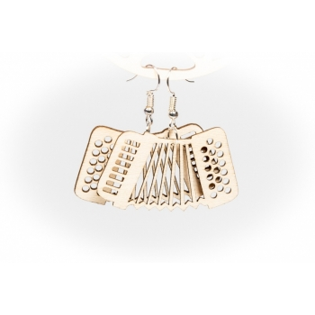 "Earrings """"Accordion"" KÕ103 Thin"