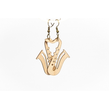 "Earrings ""Saxophone"" KÕ107 Thin"