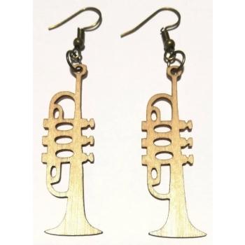 "Earrings ""Trumpet"" KÕ108 Thin"