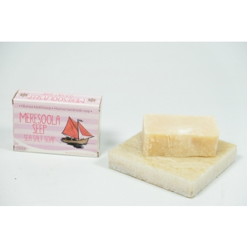 Sea salt soap with pink clay