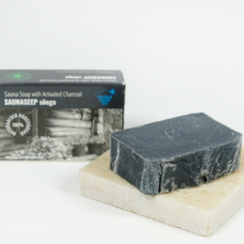 Sauna soap with charcoal