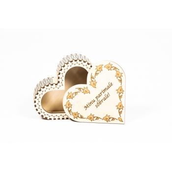 """Box Heart with lid """"Minu parimale sõbrale!"""" KK76"""