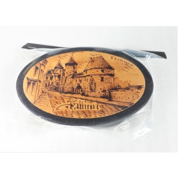Leather box oval
