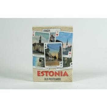 Mängukaardid Eesti vanadel postkaartidel