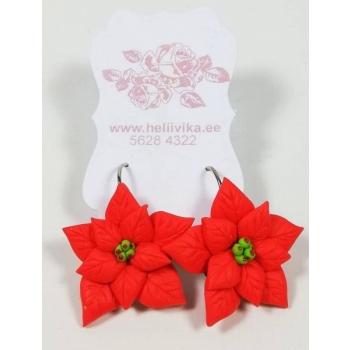"""Kõrvarõngad """"Jõulutäht"""" (2,5 cm)"""