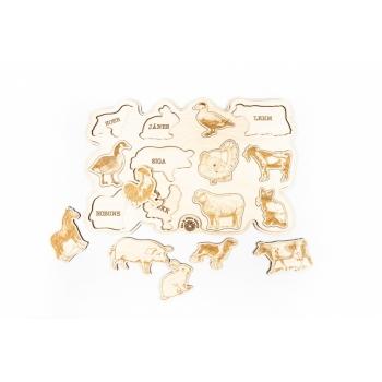 Puzzle with pets anim LA30