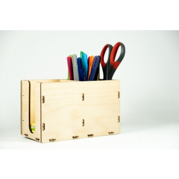 Pencil box with note paper holder KK101