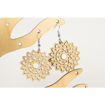 "Earrings ""Flower"" KÕ23bh"
