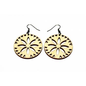 "Earrings ""Flower in a circle"""