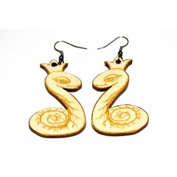 """Earrings """"Snake king"""""""