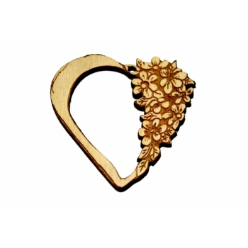 """Pendant """"Heart with flowers"""""""