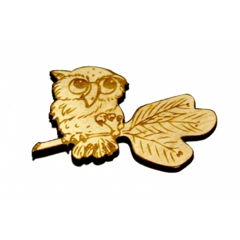 "Magnet ""Owl on a branch"""