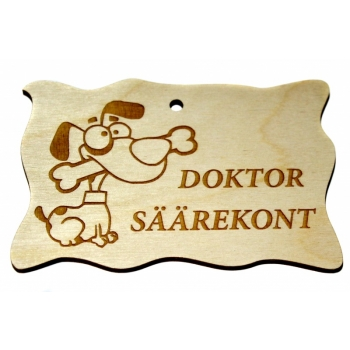 """Plywood sign """"Doctor tibia"""" Small"""