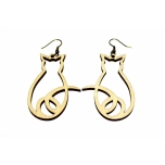 "Earrings ""Cat from behind"" KÕ22"