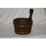 Wooden bucket with plastic content 4 L