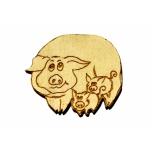 """Magnet """"Pig family"""""""