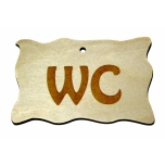 "Plywood sign ""WC"" Small VS25"