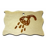 """Plywood sign """"Shower"""" Small VS02"""