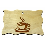 Plywood Sign 'Coffee mug' Small VS09