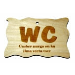 "Plywood sign ""WC Ümber nurga..."" Small VS27"