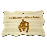 "Plywood sign ""Sügavate mõtete tuba"" Small VS21"
