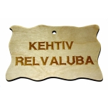 "Plywood sign ""Kehtiv relvaluba"" Small VS07"