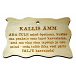 "Plywood sign ""Kallis ämm..."" Small VS29"