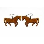 "Earrings ""Horse"" Ebonized KÕ49p"